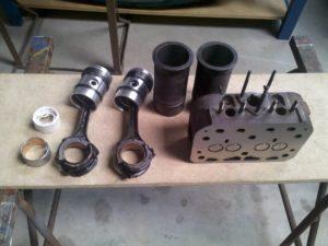 Revisie Guldner motoren  water en luchtgekoeld